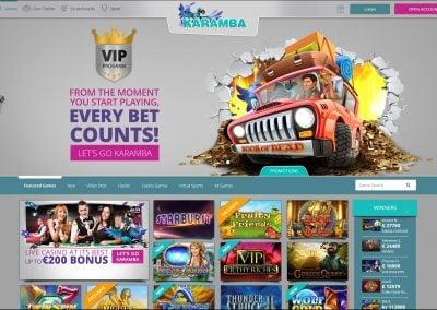 Karamba Casino Lobby