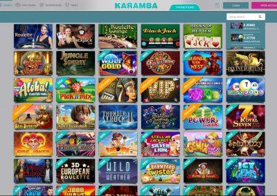 Karamba Casino games lobby