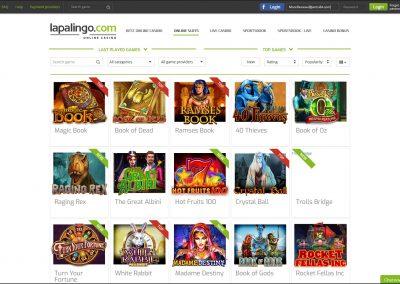 Lapalingo casino Slots Lobby