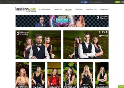 Lapalingo Live Casino Lobby