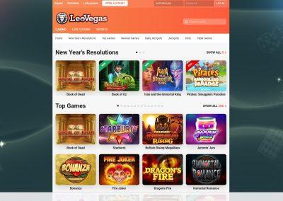 LeoVegas Casino Lobby