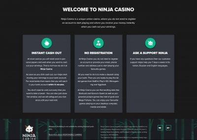 Ninjacasino Registeration