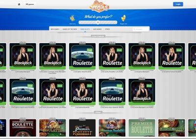 Slotty vegas live casino Lobby