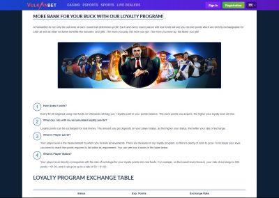 Vulkanbet Loyalty Program Lobby