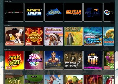 chanz Casino slots lobby