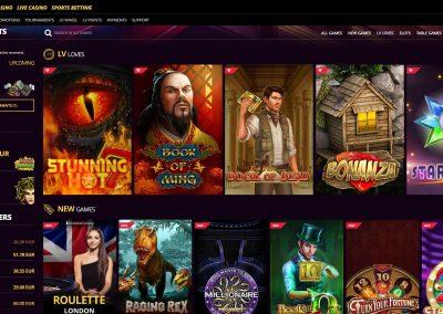 lvbet casino slots lobby