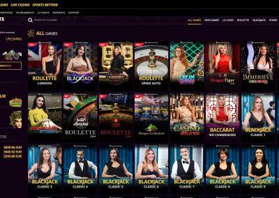 lvbet live casino lobby