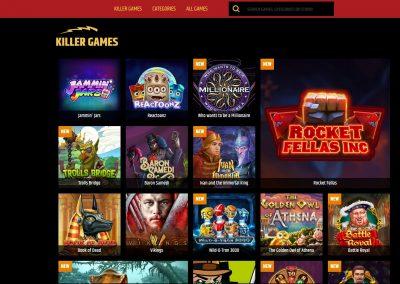 metal casino Slots lobby