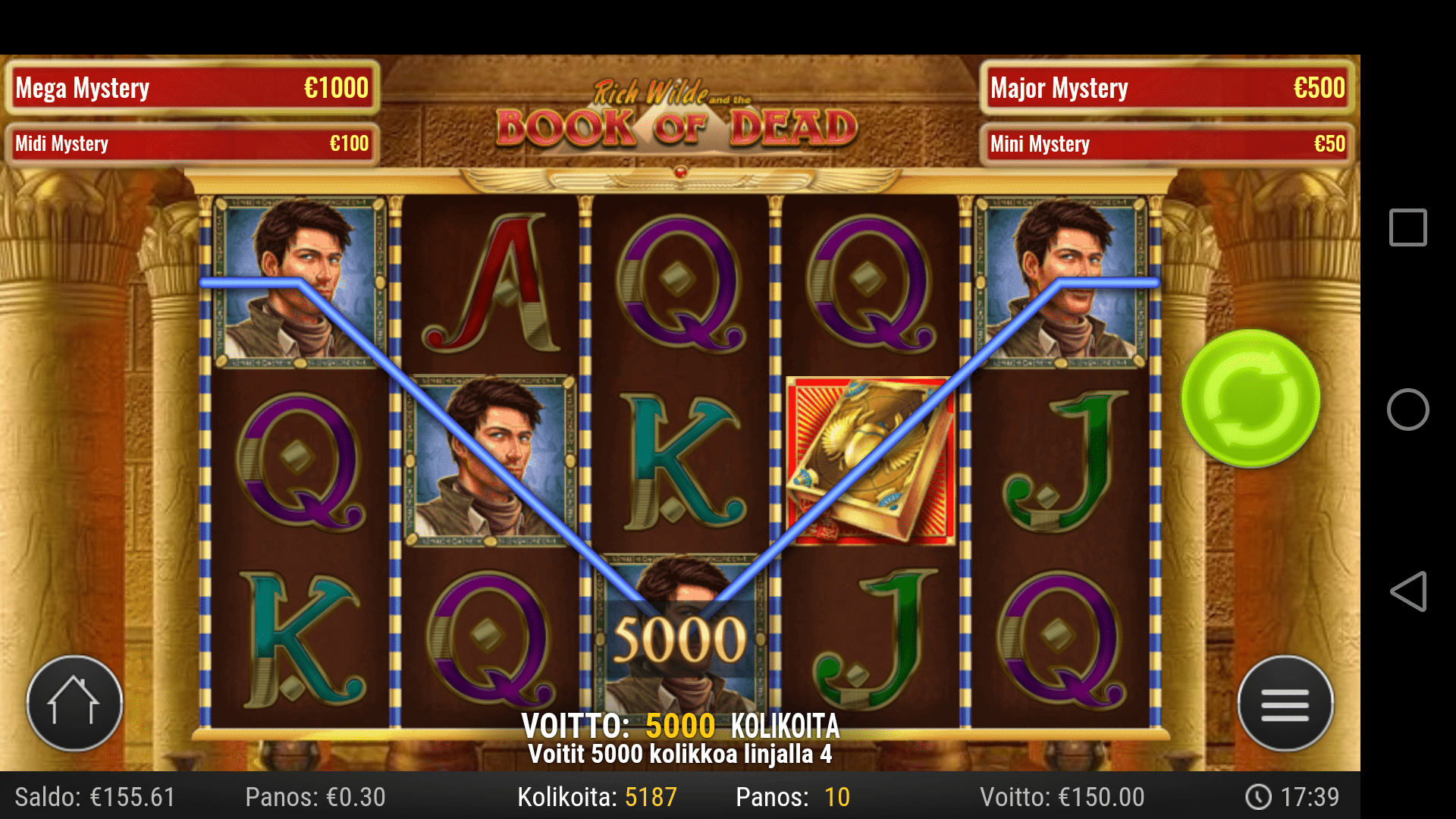 Book of Dead slot big win picture
