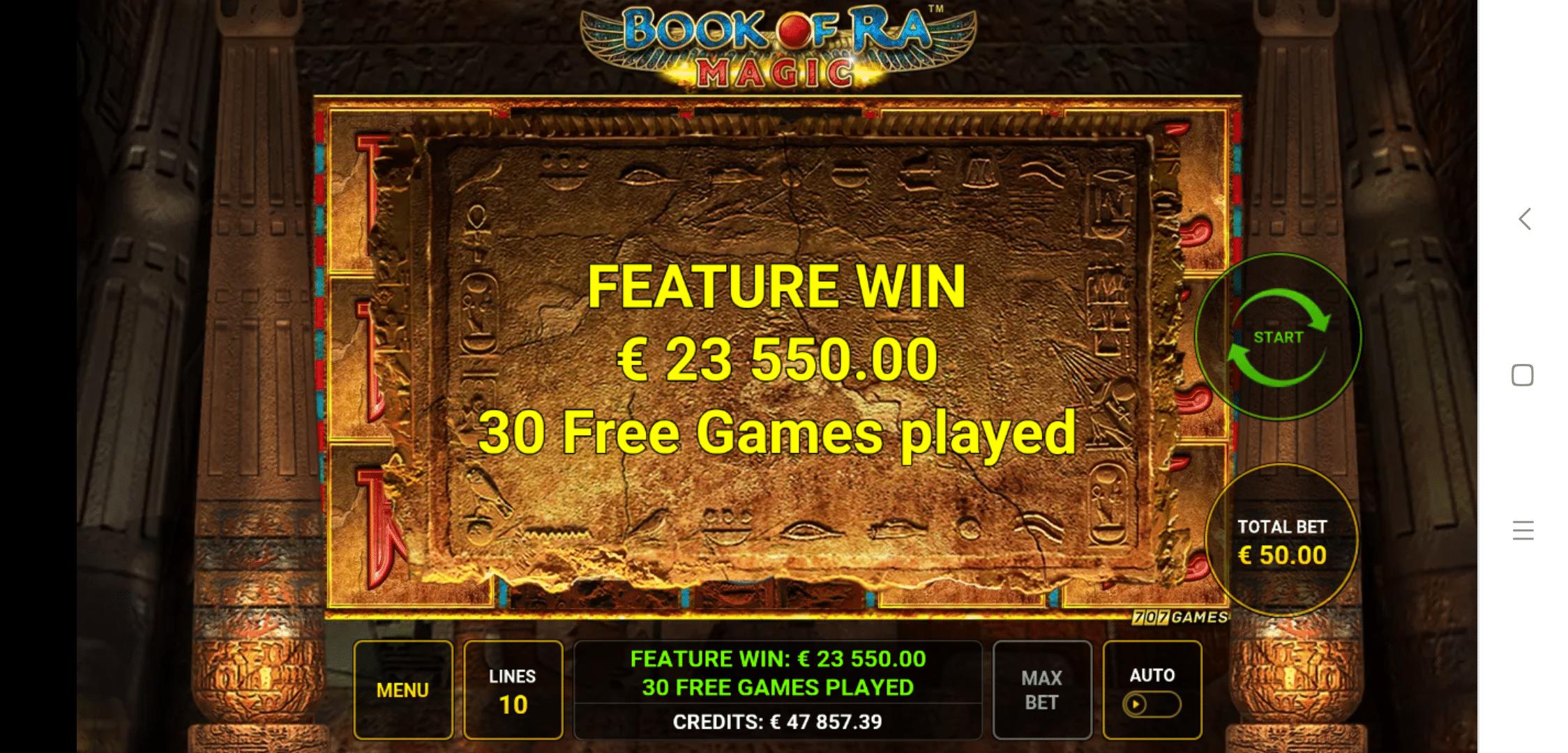 Book Of Ra Magic By Novomatic Big Win Picture
