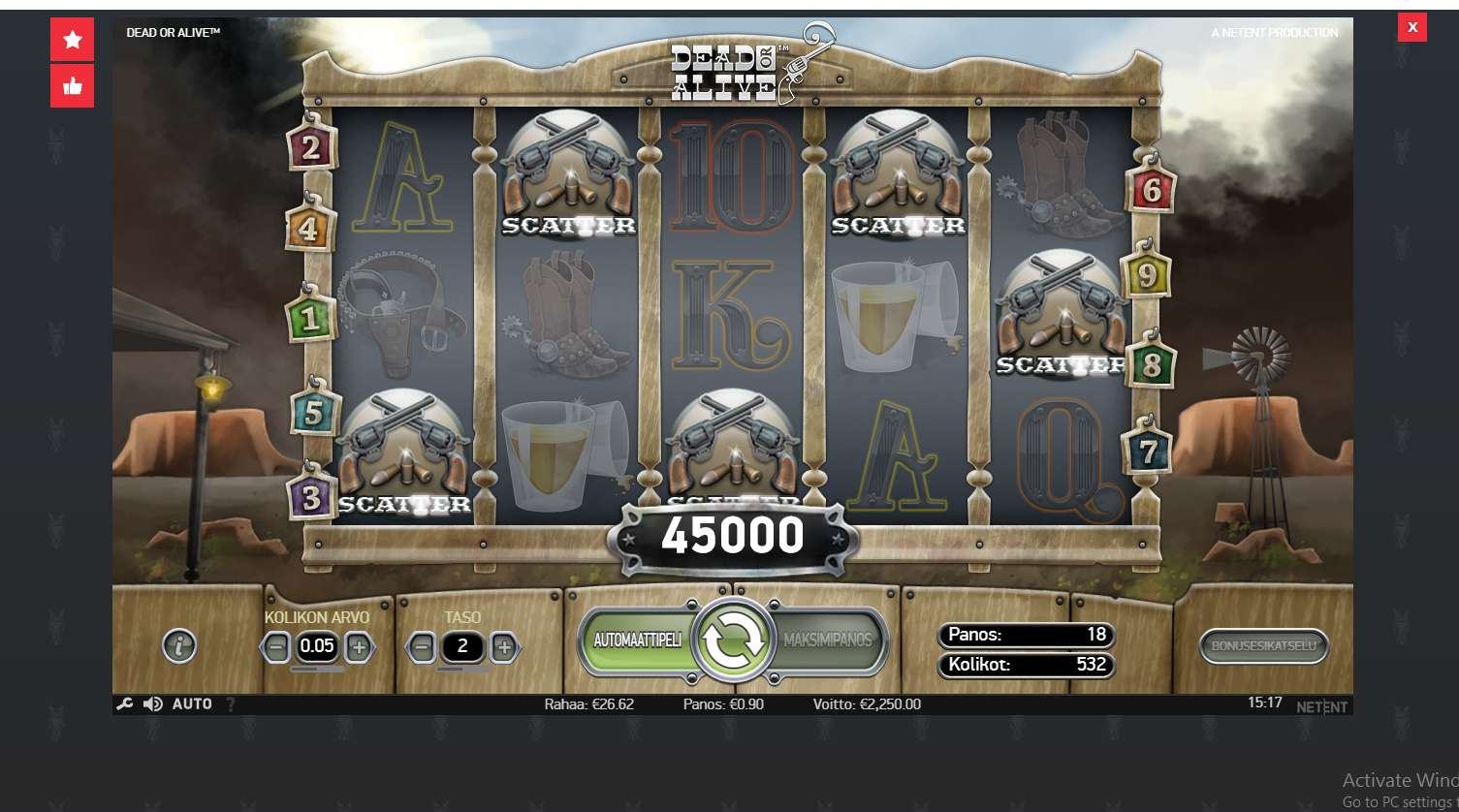 Dead or alive slot big win picture