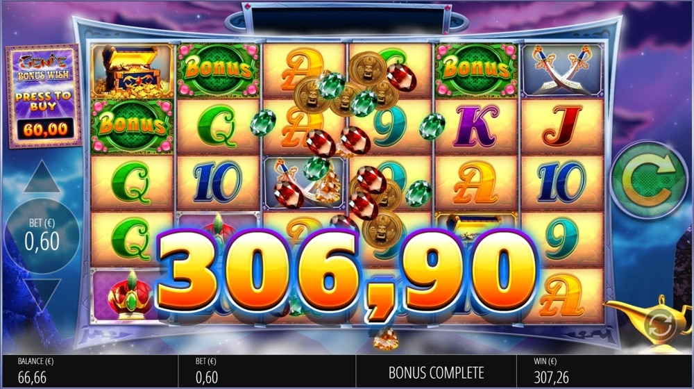 Genie Jackpots by Blueprint Big Win Picture