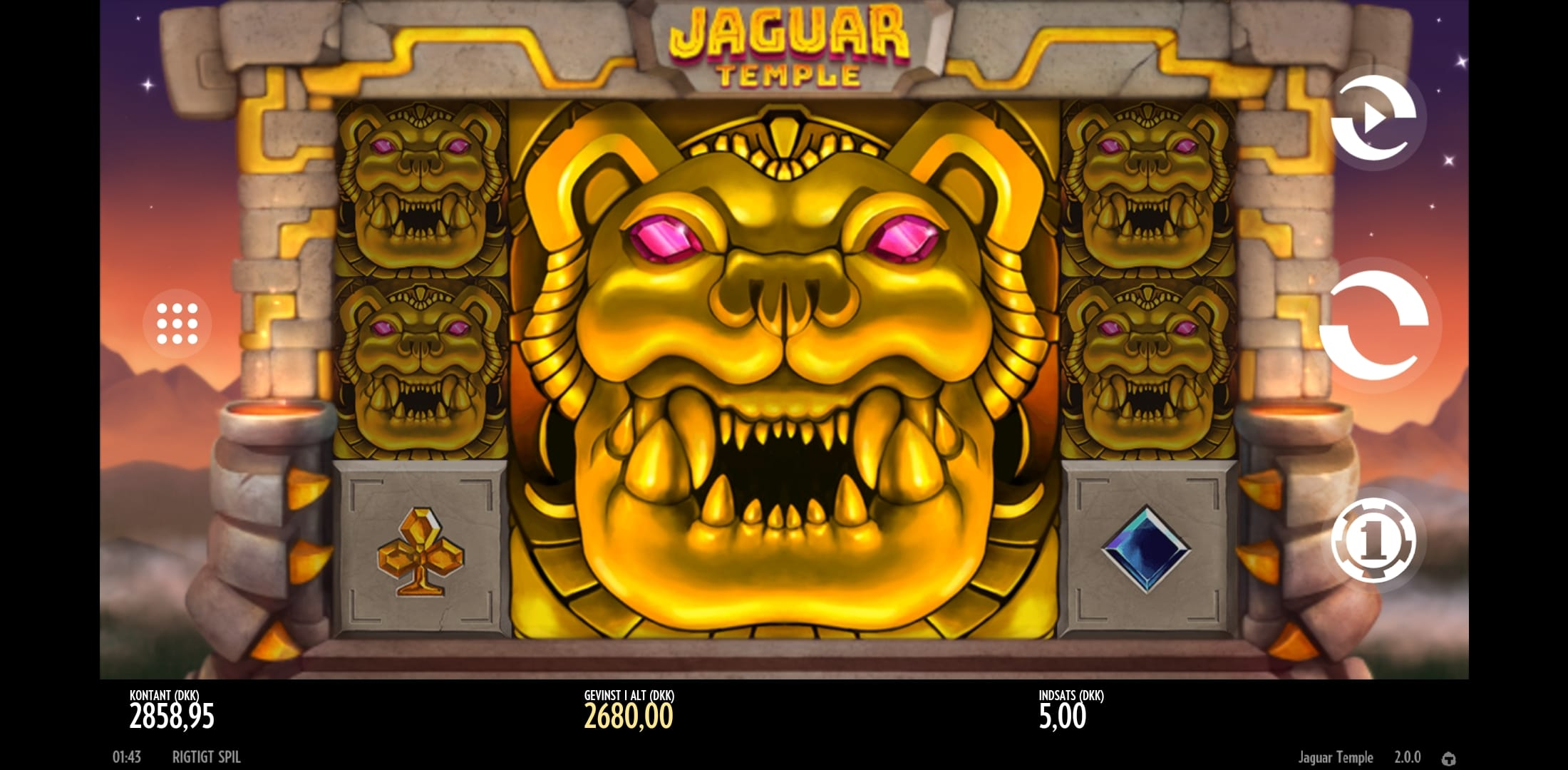 Jaguar Temple by Thunderkick Big Win Picture