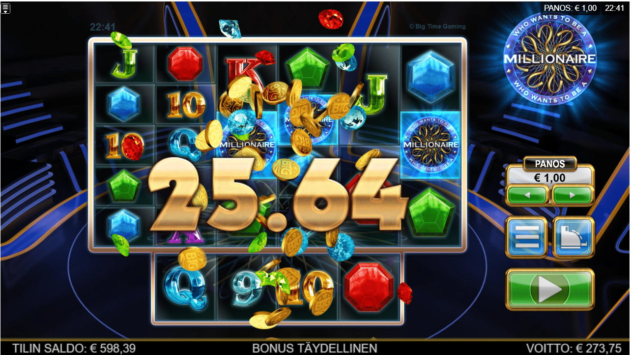WHo Wants to be a millionaire by big time gaming Big Win Picture
