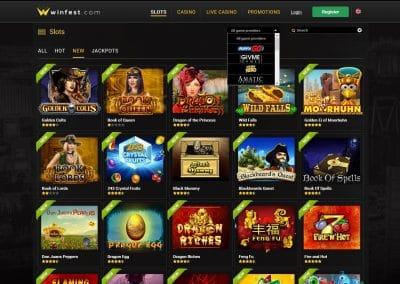 Winfest Casino slots lobby