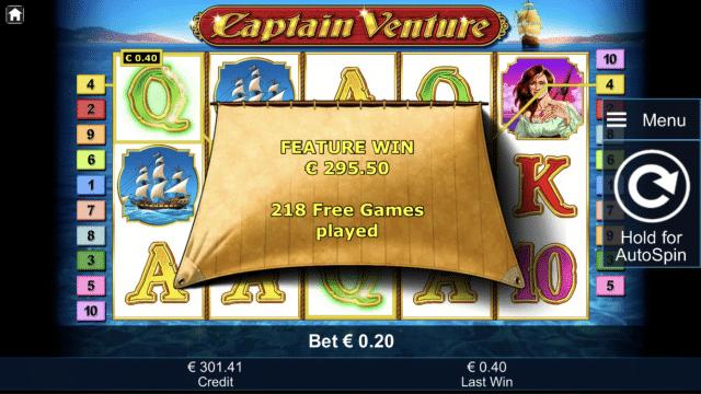 Captain Venture by Novomatic Big Win Picture