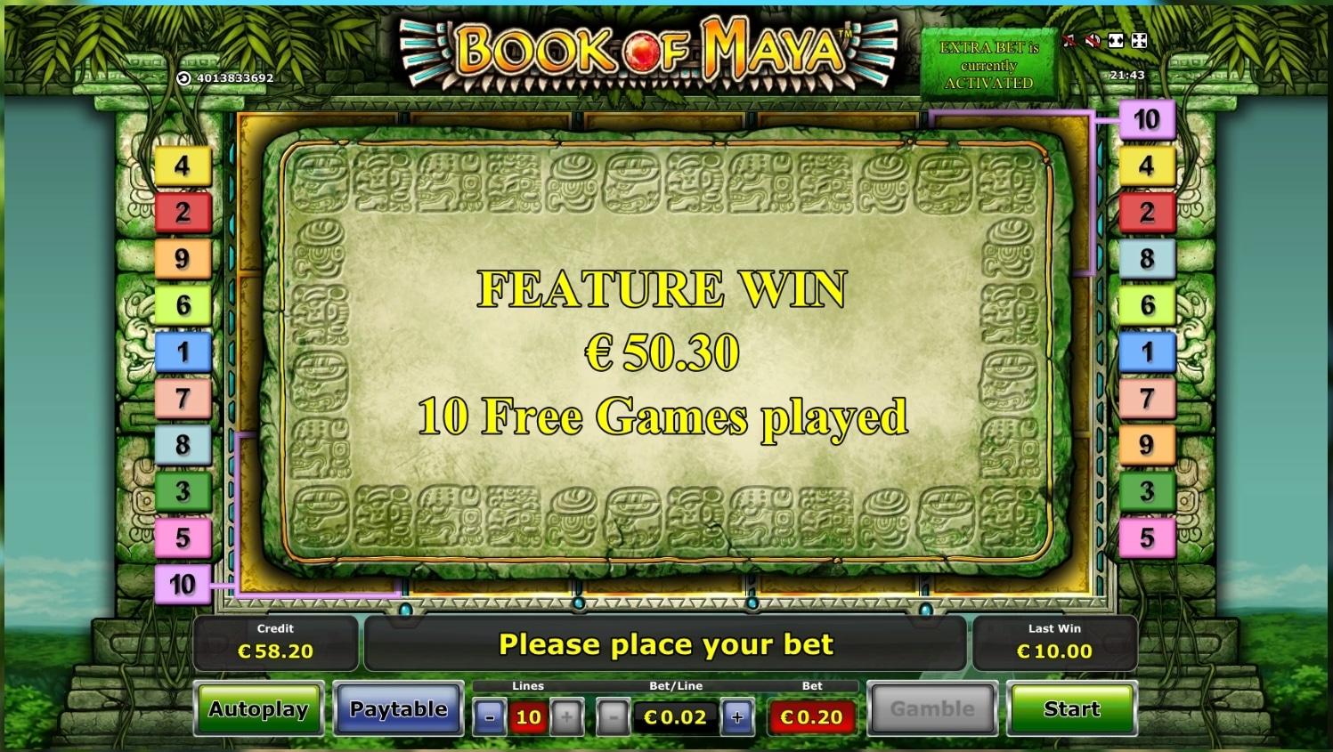 Book Of Maya Novomatic Big Win Picture