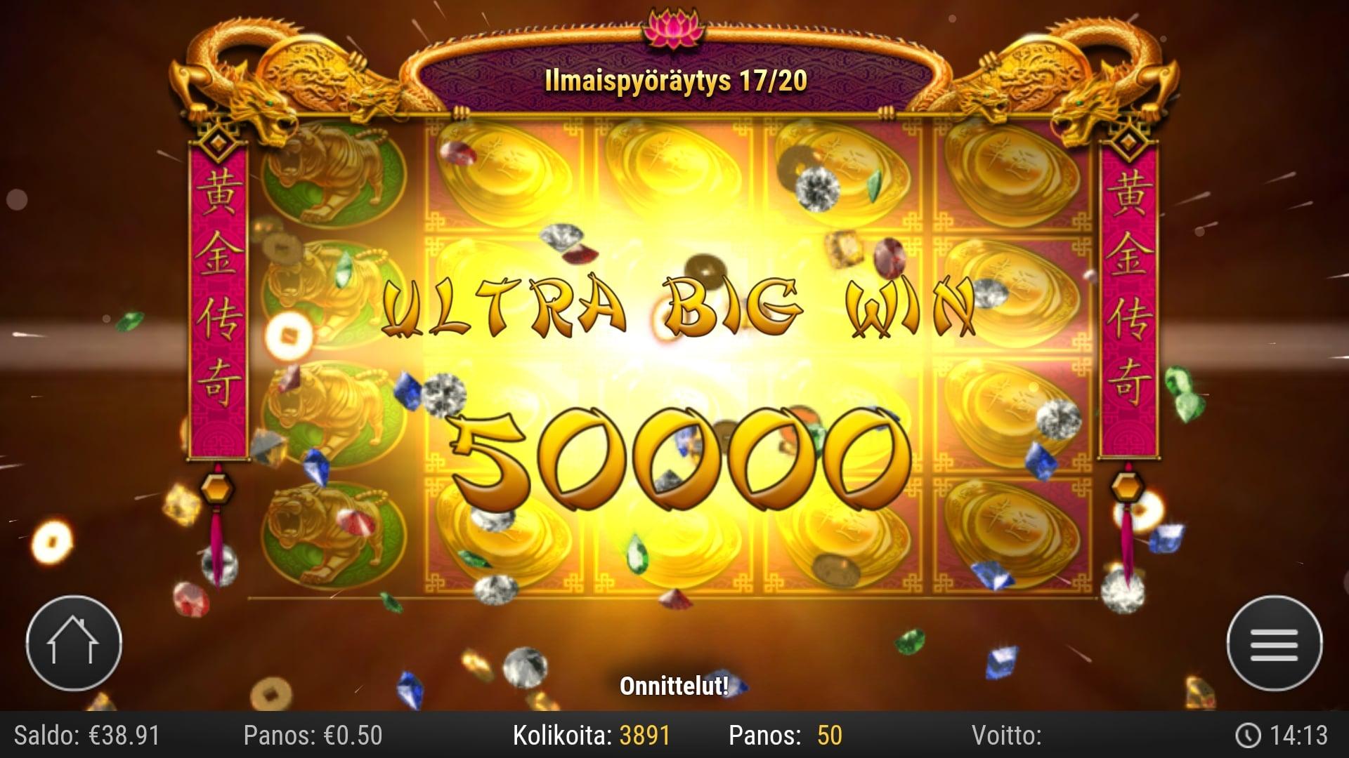 Golden Legend Play'n Go Big Win Picture