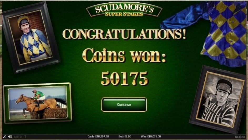 Scudamore's Super Stakes Netent Big win picture