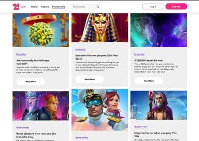 21.com Casino Promotions