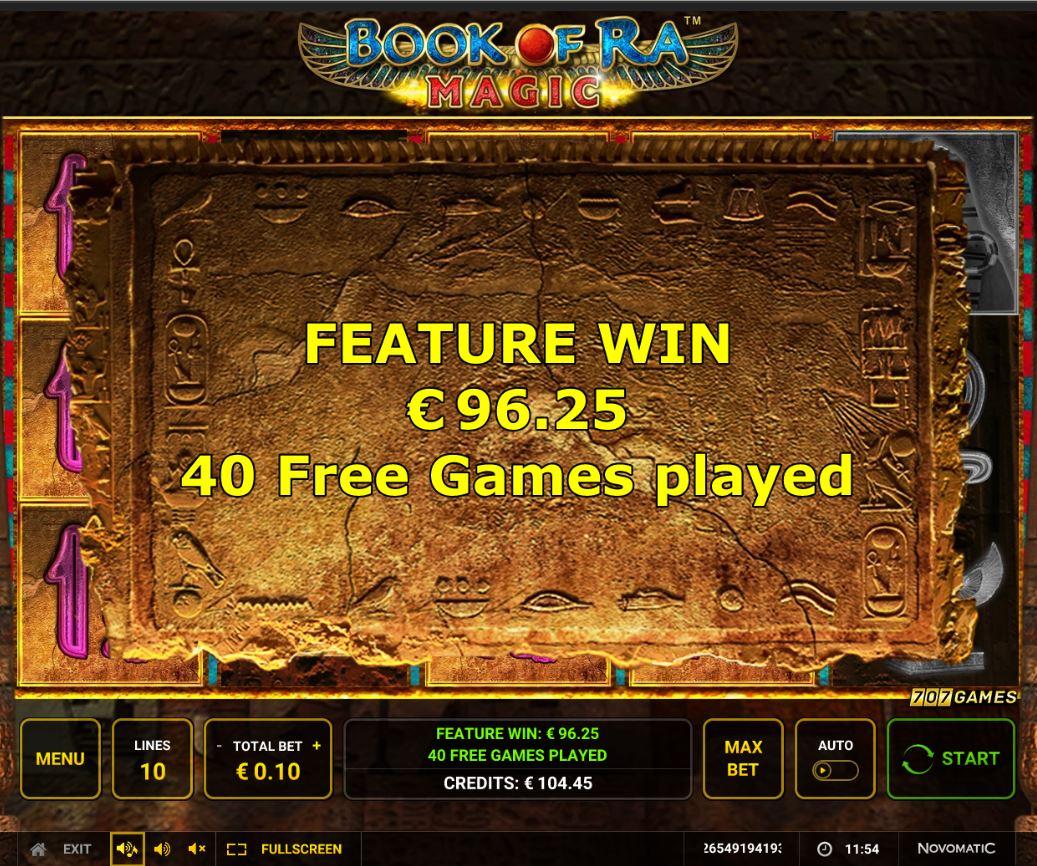 Book Of Ra Magic Slot Big Win Picture