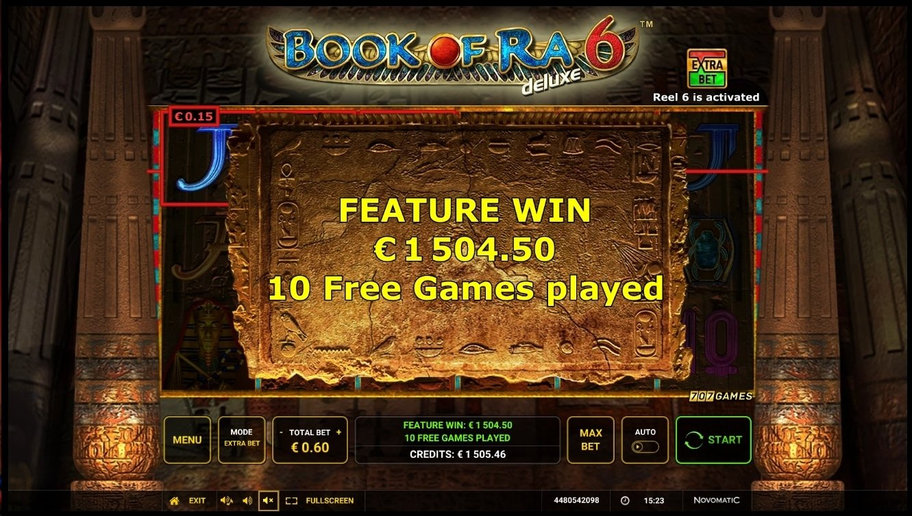 Book Of Ra 6 Slot Big Win Picture
