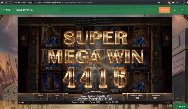 Dead Or Alive 2 Slot Big Win Picture
