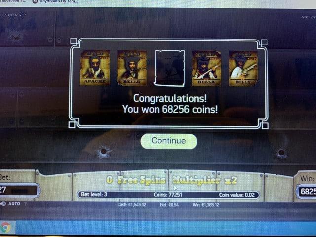 Dead Or Alive Slot Big Win Picture