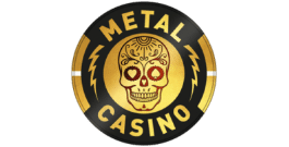 Metal Casino Gambling Logo