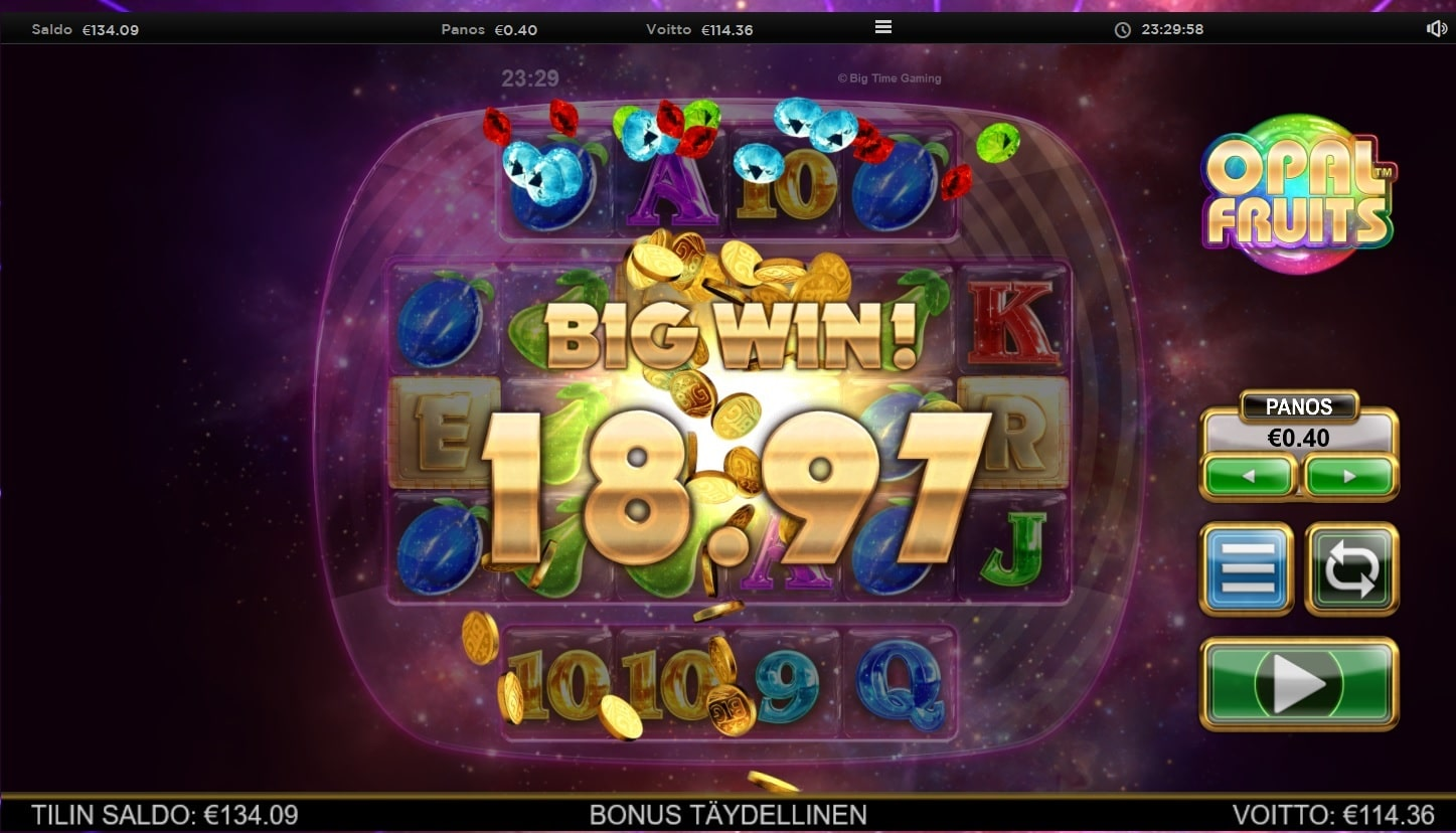 Opal Fruits Slot Big Win Picture