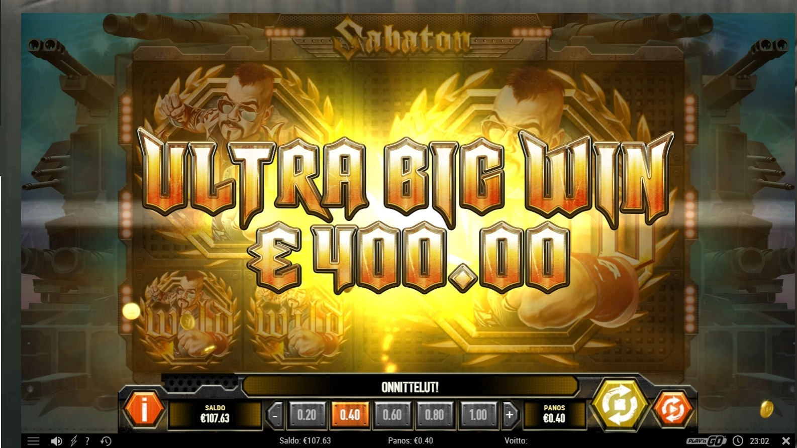 Sabaton Slot Big Win Picture