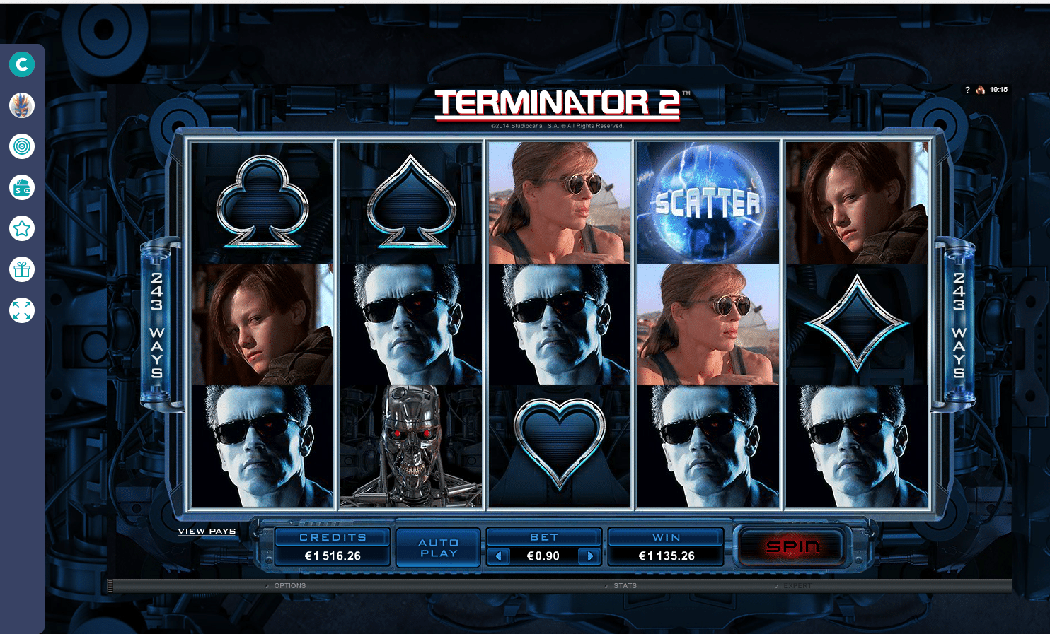 Terminator 2 Hot mode Slot Big Win Picture