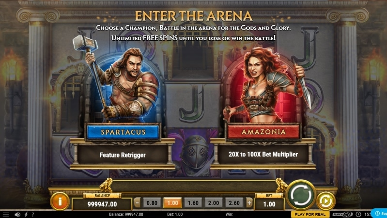 Game of Gladiators Free Spins Feature