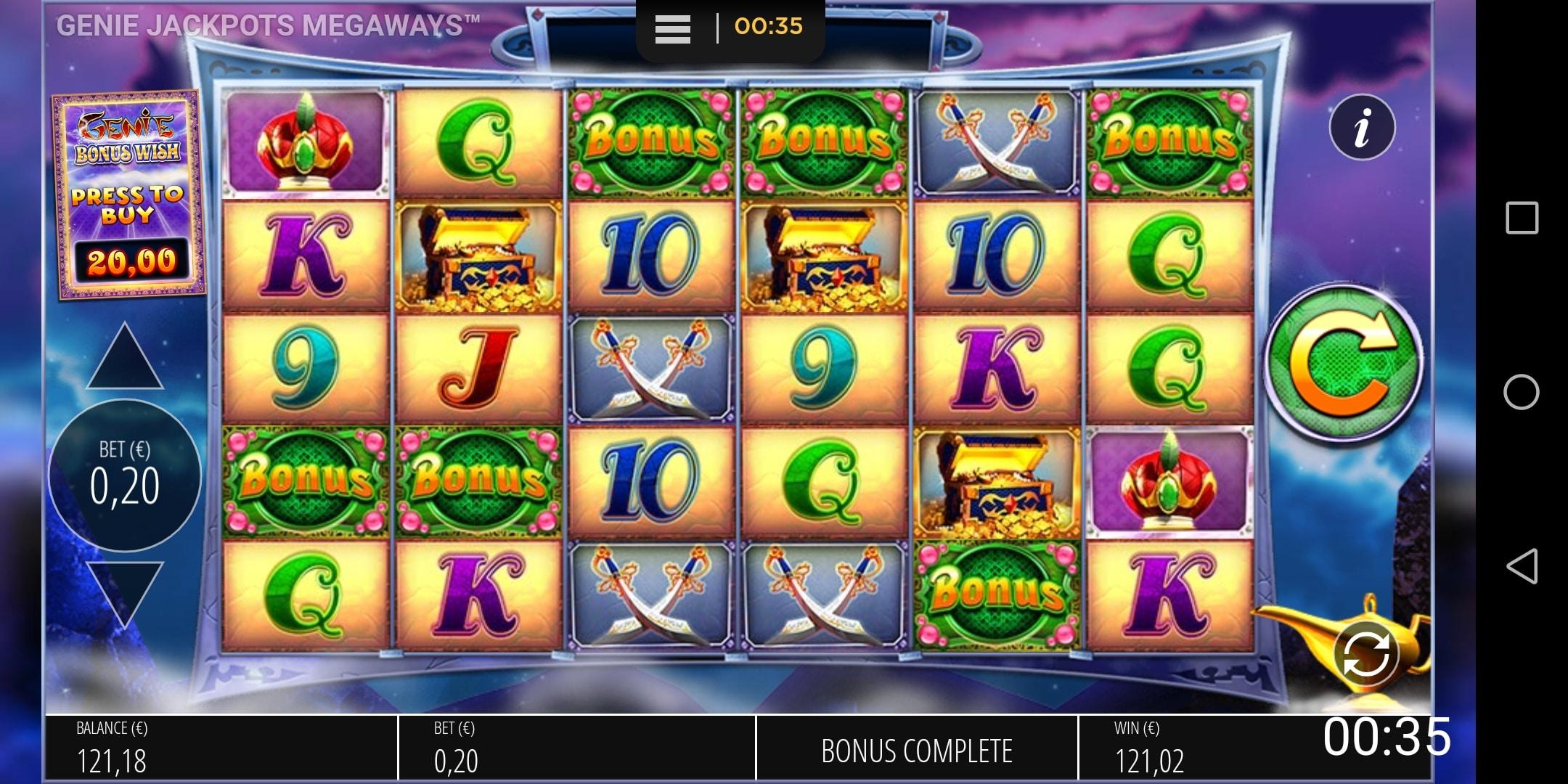 Genie Jackpots Megaways Big win Picture