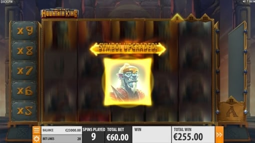 Hall of the Mountain King Free spins stage 1