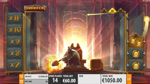 Hall of the Mountain King Free spins stage 2