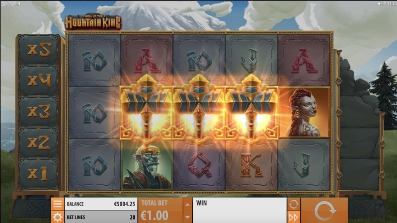 Hall of the mountain King Free Spins feature