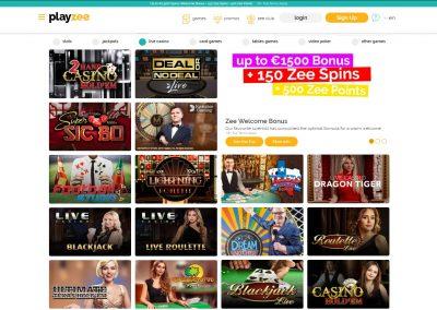 Playzee Casino Live games Lobby