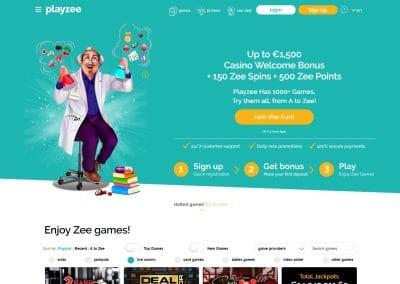 Playzee Casino Lobby