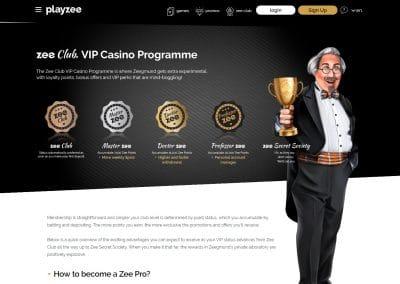 Playzee Casino Vip Club Lobby