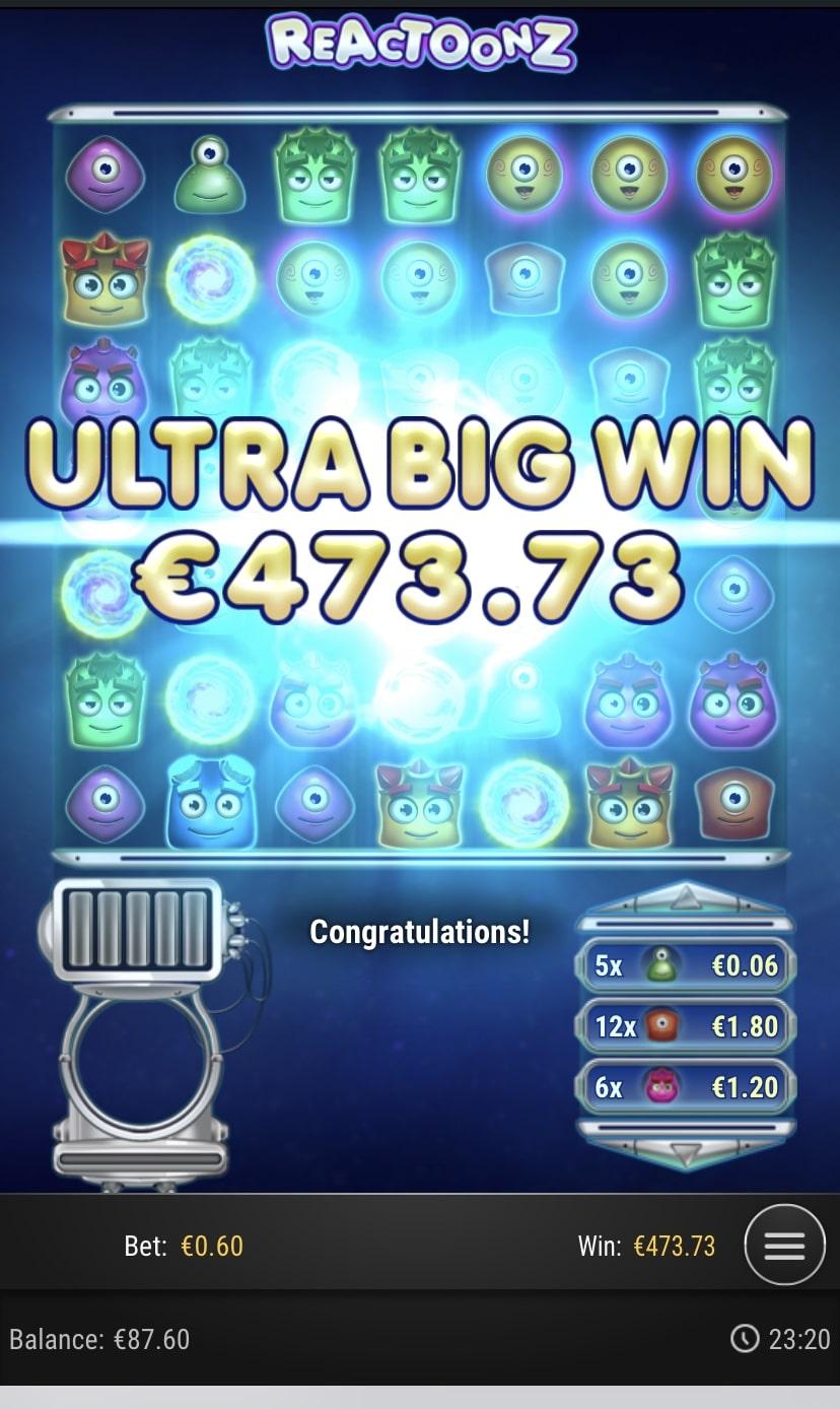 Reactoonz Big Win Picture By vesselis
