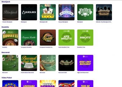 Wildz Casino table games overview