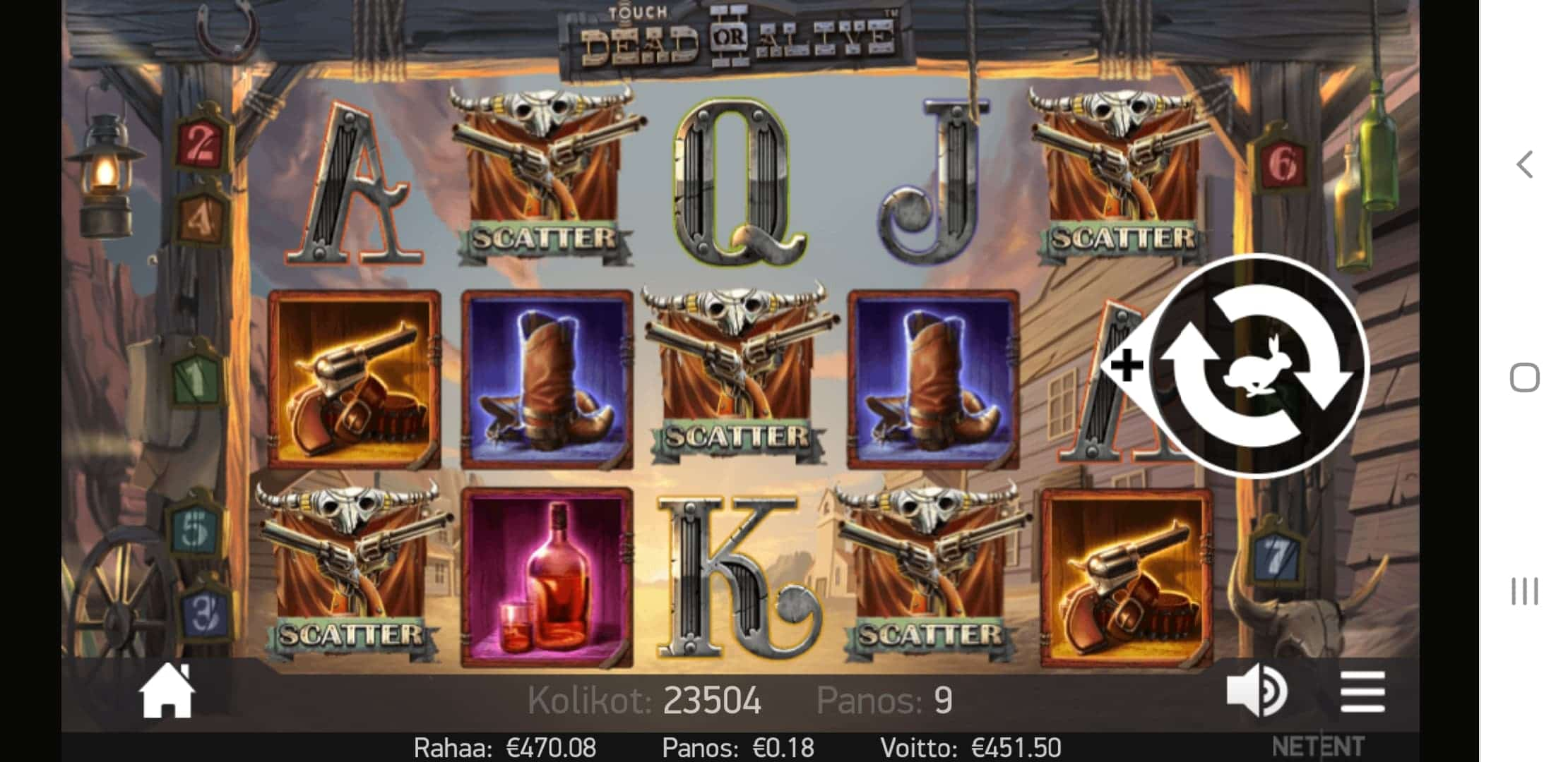 Dead or Alive 2 Slot Big Win Picture