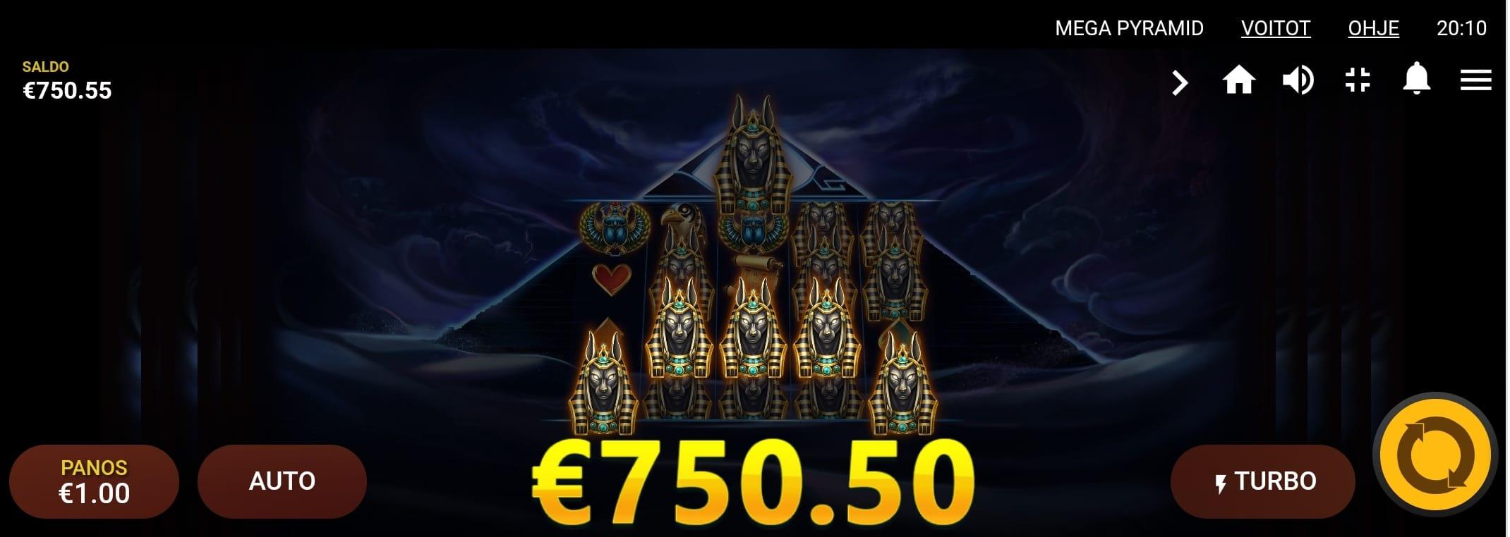 Mega Pyramid slot Big Win picture