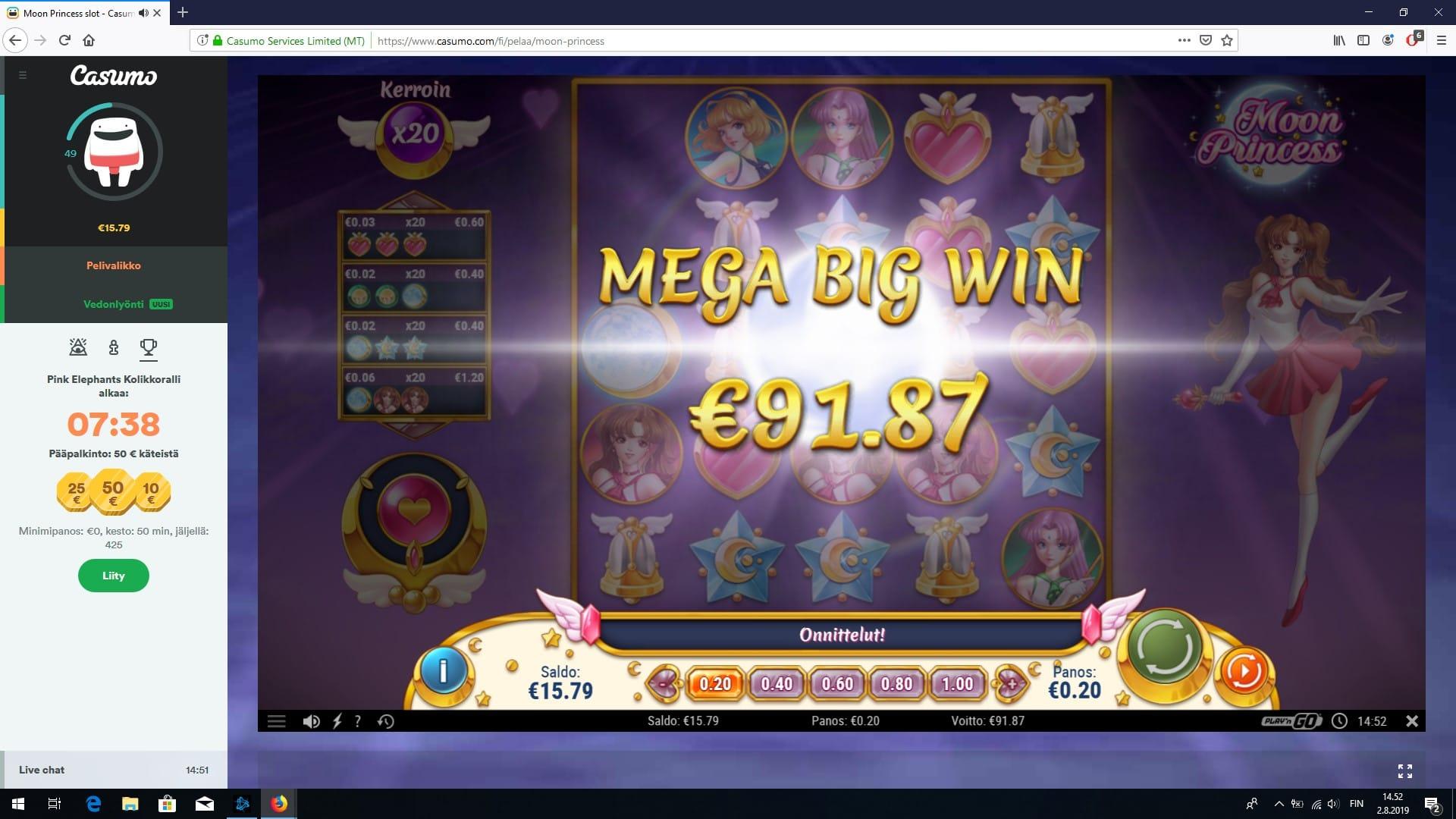 Moon Princess Slot Big Win Picture