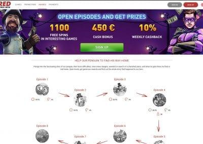Red Pingwin Casino loyalty program