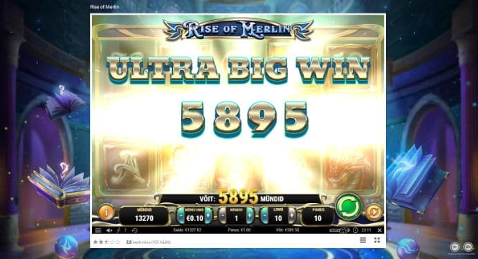 Rise of Merlin Big win Picture by kasinokunn2