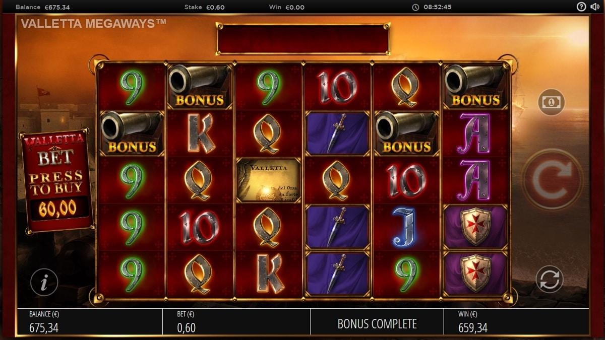 Valetta Megaways Slot Big Win Picture