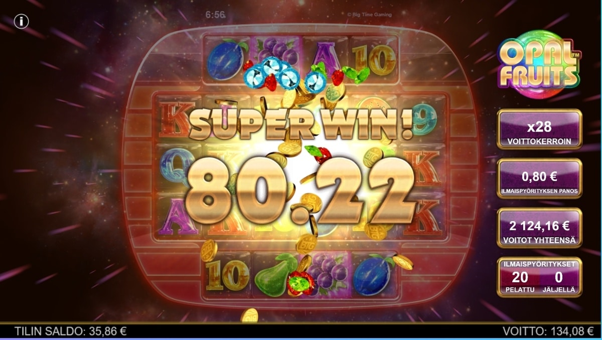 opalfruits Slot big win picture