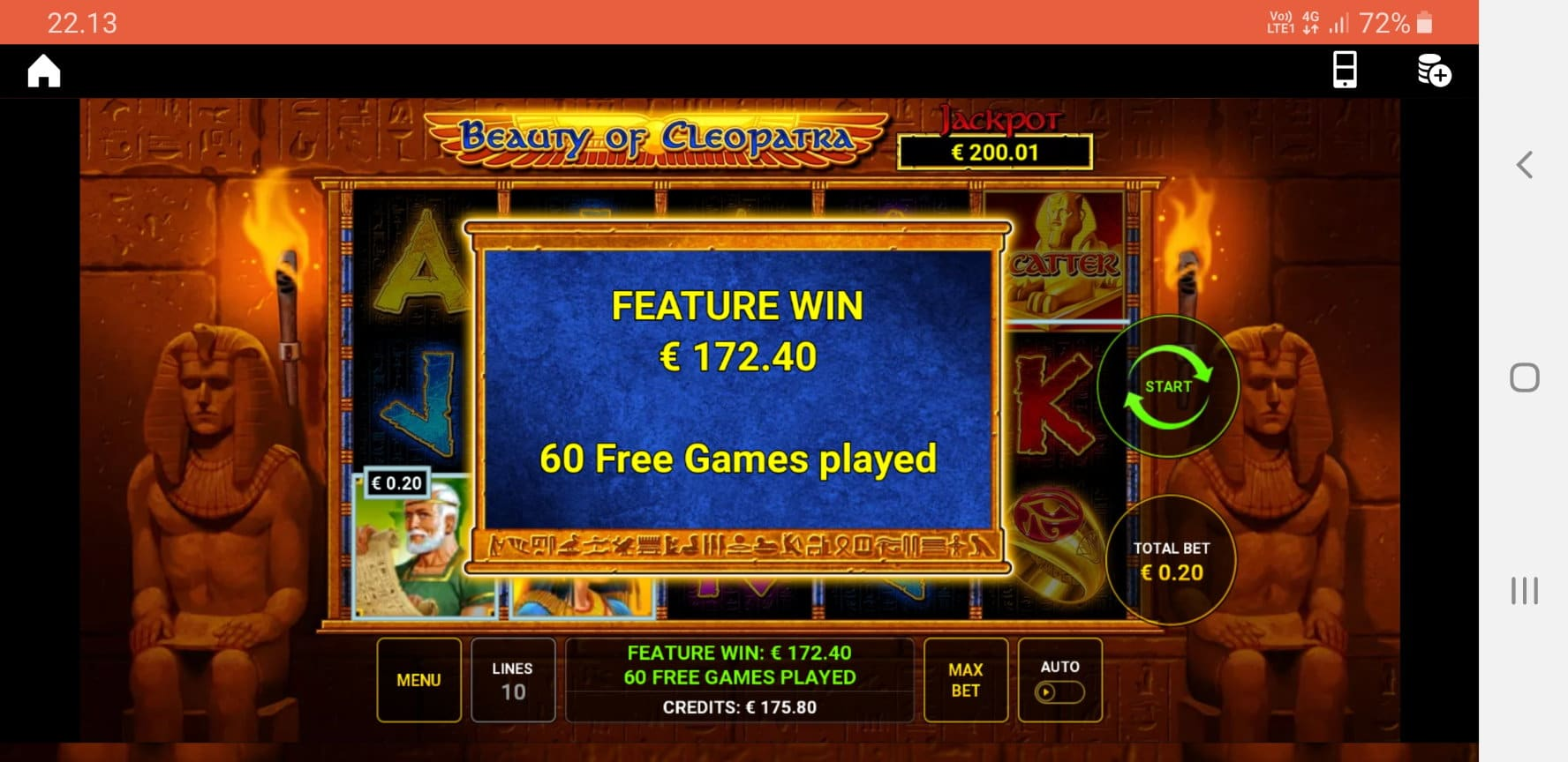 Beauty of Cleopatra Big Win Picture